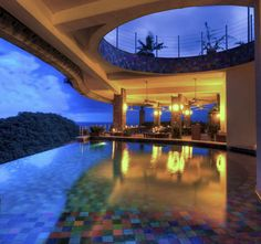 Jade Mountain Resort, St. Lucia - All 24 suites showcase panoramic views of the Caribbean from their private, glass-tiled infinity pools, and you can also spy the Pintons Mountains. (All inclusive resort)