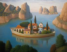 Among island  by Evgeni Gordiets