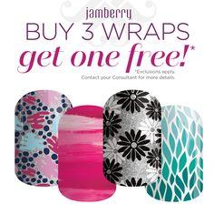 Buy 3 Get 1 FREE | Jamberry | Jamberry Nail Wraps