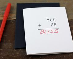 Valentines Letterpress Card / Fill in your own word / White. $2.50, via Etsy.