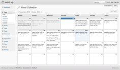 wordpress plugin-editorial calendar