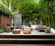 """Outdoor rooms that get the balance right:""""Completely overgrown"""" is how landscape designer [Anthony Wyer](http://www.anthonywyer.com/