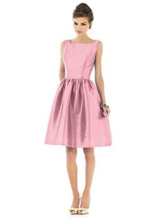 pink. @Lindsey Sikes and @Kristie Burr and @Pamela Steskal Lyons--would this be a good alternative bridesmaid style? Maybe with a bow? Maybe not pink?