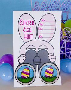 Download our Easter Egg Hunt invitation for free. #easter #egghunt