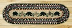 Black Bear Oval Table Runner - American Expedition