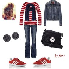 Friday bowling by jsoltyso on Polyvore featuring Hollister Co., R13, MEK, Converse, AllSaints and adidas