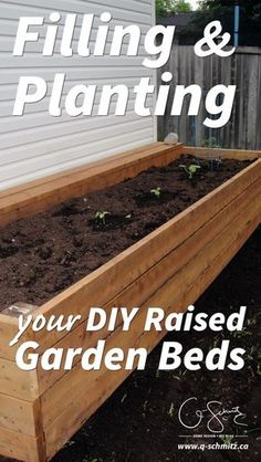 Are you a gardener looking to build DIY raised garden beds? Here is some information on filling and planting your garden beds… but make sure to properly calculate how much dirt you will need, or you'll end up like us! Raised Flower Beds, Raised Beds, Raised Patio, Building Raised Garden Beds, Cheap Raised Garden Beds, Garden Types, Plantar, Plantation, Garden Planning