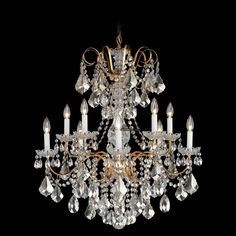 391025_Wrought Iron Crystal Chandeliers _Zhongshan Sunwe Lighting Co.,Ltd. We specialize in making swarovski crystal chandeliers, swarovski crystal chandelier,swarovski crystal lighting, swarovski crystal lights,swarovski crystal lamps, swarovski lighting, swarovski chandeliers.