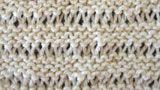 Encyclopédie des points de tricot. LE POINT RIVIERE SIMPLE MOUSSE