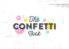 Premade LOGO//Confetti logo// Party logo// Event by MillyBoutique