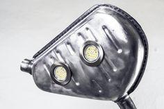 Floor lamp (Installation) Made of: disc brake pipe exhaust system, muffler