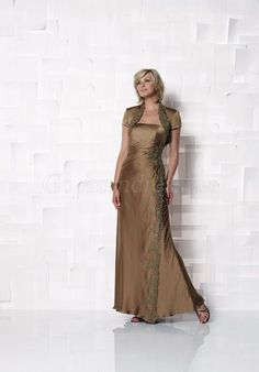 Strapless A-line With A Wrap long Satin Mother of the Bride Dress