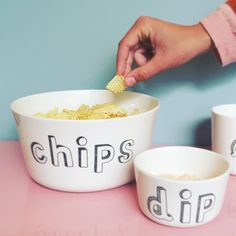 chips and dip bowl from Liebe