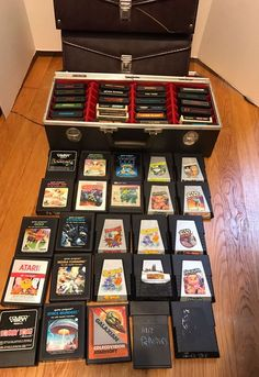 Atari 2600 Games Lot Of 49 With 3 Storage Cases Colecovision Galaxian Titles  | eBay