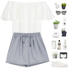 off the shoulder by f-resh on Polyvore featuring Valentino, Jil Sander, MICHAEL Michael Kors, Christian Dior, NARS Cosmetics, Aesop, La Mer, Davines, Potting Shed Creations and The French Bee