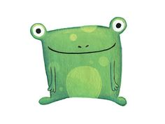 'Green Frog' By Charlotte Ancenay. Frog Illustration, Graphic Illustration, Illustrations, Frog Activities, Frog Drawing, Painted Rock Animals, Frog Pictures, Frog Design, Kids Inspire