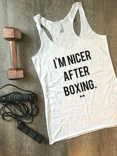 Im Nicer After Boxing Workout Tank Boxing Boxing Tank Kickboxing Womens Workout Tank Funny Workout Tank Fitness Tank Gym Tank Boxer Funny Workout Tanks, Workout Humor, Funny Gym, Funny Workout Quotes, Gym Humour, Gym Frases, Workout Routines For Women, Workout Ideas, Ju Jitsu
