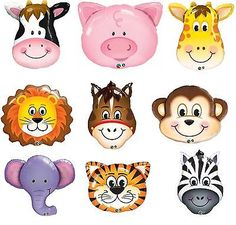 Jungle & farm #animal #large helium balloons - qualatex foil balloons - 9 #design, View more on the LINK: http://www.zeppy.io/product/gb/2/121470509422/