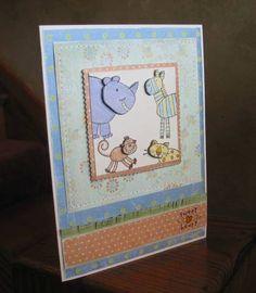 *zoofari baby* using Stampin Up Zoofari retired stamp set.