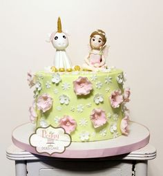 Fairy unicorn cake (based on design by Sweet Love Cake Couture).