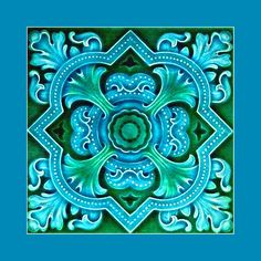 139 Aesthetic tile (just before Art Nouveau period). Buy as an e-card with a personalised greeting!