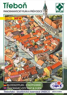 Panoramatický plán a obrazový průvodce města Třeboň