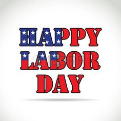 Happy labor day theme, text with flag elements photo