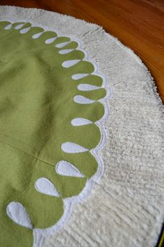 Christmas Tree Skirt--- not a big fan of the chenille, but I like the felt/flannel details