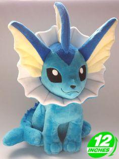 Pokemon-Vaporeon-Plush-Doll-30cm (There's a shiny one, too. ^^)