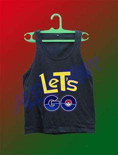 pokemon go shirt tank top lets let's go pikachu the starter clothing unisex #Unbranded #TankTop