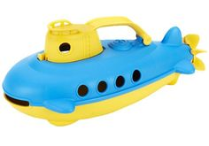 Submarine by Green Toys is perfect for deep sea adventures! A great toy to take to the pool or beach, or just to the bathtub. Made in the USA of recycled plastic milk jugs. Yellow Baths, Baby Daddy Shirt, Baby Alive Food, Green Toys, Yellow Turquoise, Beach Toys, Water Toys, Sand Toys, Water Play