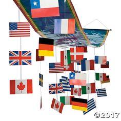 International Flags Ceiling Decoration - OrientalTrading.com