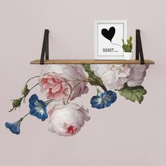 #muursticker #inepien #pimpjemuur #romantisch #roos #bloemen #lief #babykamer