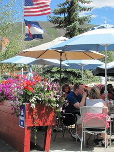 Arapahoe Cafe - Dillon, CO - beautiful patio in the summer  http://mycoloradotravel.com