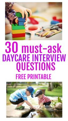 This list is really useful for daycare interviews. Free printable to take on daycare visits with so many questions. It can be so hard to find a daycare for your baby or toddler. If you are trying to choose a nursery school for your child, check out this helpful cheat sheet of interview questions. This list of daycare interview questions comes with a free printable that will make choosing childcare easy! If you want to find a home daycare for your child, make sure to ask the right questions.