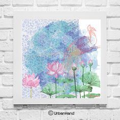 Lotus Love  Digial Download  Peacock Art Print by UrbanHand