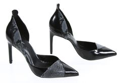 Zara Basic Dust Blue D'Orsay Pointed Toe Classic Pump High Heels 7 #ZaraBasic #PumpsClassics #SpecialOccasion