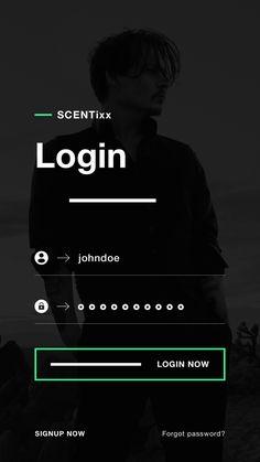 png by Robert Berki - Scentixx login ui design ios app ux - Ios App Design, Design Web, Interface Design, Design Android, Login Design, Mobile Web Design, User Interface, Flat Design, Mobile Login