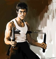 Bruce Lee in Enter the Dragon by darkdamage on DeviantArt Bruce Lee Art, Bruce Lee Martial Arts, Bruce Lee Quotes, Way Of The Dragon, Enter The Dragon, Little Dragon, Martial Arts Movies, Martial Artists, Kung Fu