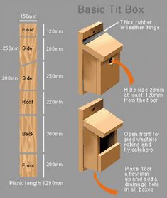 build a nest box build a nest box Bird Houses For Sale, Bird Houses Diy, Robin Nest Box, Bird House Plans Free, Bluebird House Plans, Homemade Bird Houses, Birdhouse Craft, Bird House Feeder, Bird Feeder