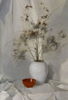Henricus Rol (1906-1992) Dried flowers in a vase, oil on canvas. Collection Simonis & Buunk, The Netherlands