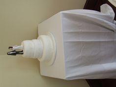 Modeled Replica Bride & Groom on 3 Tier Stacked Wedding Cake