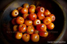 Absolutely GORGEOUS Deep Egg Yolk Amber Resin Beads imported from Kathmandu Nepal Jewelry Making Supplies by TemplesTreasureTrove