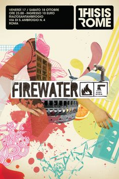 thisisrome firewater poster by nazario graziano