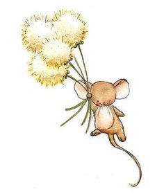 Cute art print for babies—Wishful Flying——adorable artistic style❣ LoxlyHollow Illustration Mignonne, Cute Illustration, Art Mignon, Baby Art, Nursery Art, Cute Drawings, Cute Art, Watercolor Art, Art For Kids