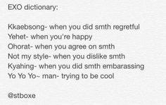 EXO Vocabulary