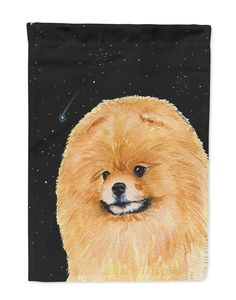 Starry Night Pomeranian Flag Garden Size