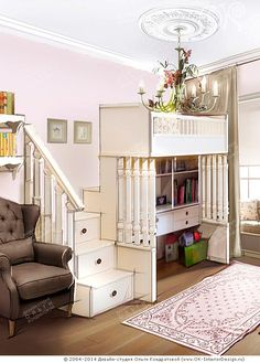 Рисунок интерьера детской  http://www.ok-interiordesign.ru/ph_dizain-detskoy-komnaty.php