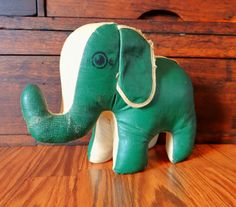 Vintage toy elephant Oilcloth 1950s by thewildburro on Etsy, $35.00