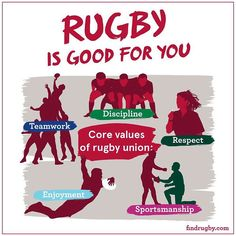 """Rugby is good for you Get involved at findrugby.com"""